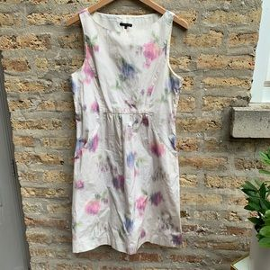 Theory Watercolor Floral Print Dress